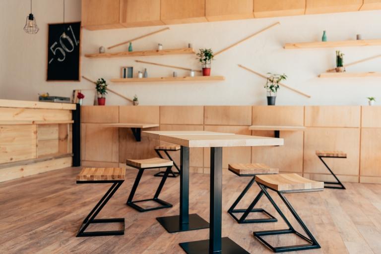 Loft Küche aus Naturholz