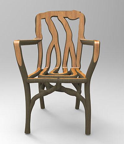 So entsteht aus einem wachsenden Baum ein Stuhl