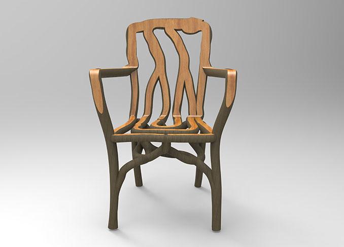 Stuhl aus Bio 3 D Druck