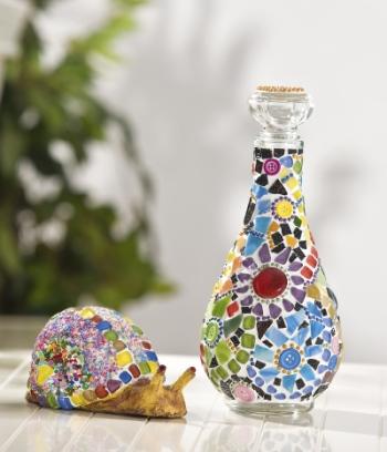 Upcycling und Mosaiktechnik: Bastel-Tipp