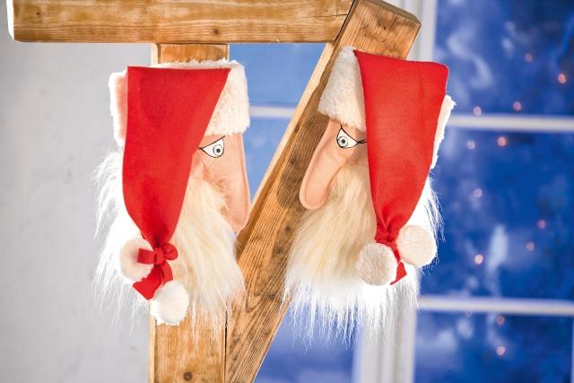 Für Nikolaus basteln: Gesicht aus Küchenhandschuh und Filz