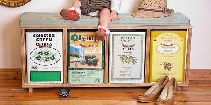 Rafinesse & Tristesse: Tolle Upcycling-Möbel & Wohnaccessoires aus alten Olivendosen