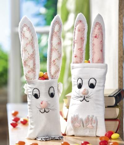 Basteln zu Ostern lustige Geschenkbeutel aus Brillen-Etui