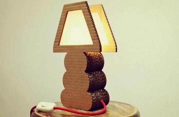 Upcycling Lampen aus alten Pappkisten & Kartons von Green Spirit Creations