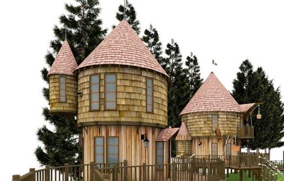 hogwarts baumhaus im garten von jk rowling harry potter. Black Bedroom Furniture Sets. Home Design Ideas