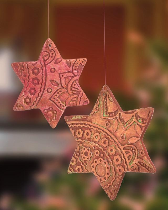 Weihnachtsanhänger im Shabby Style oder Landhausstil basteln