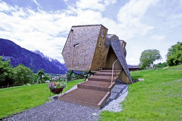 Leben ohne Plastik: Minihaus Ufogel - Ferienhaus aus Lärchenholz in Nussdorf in Tirol