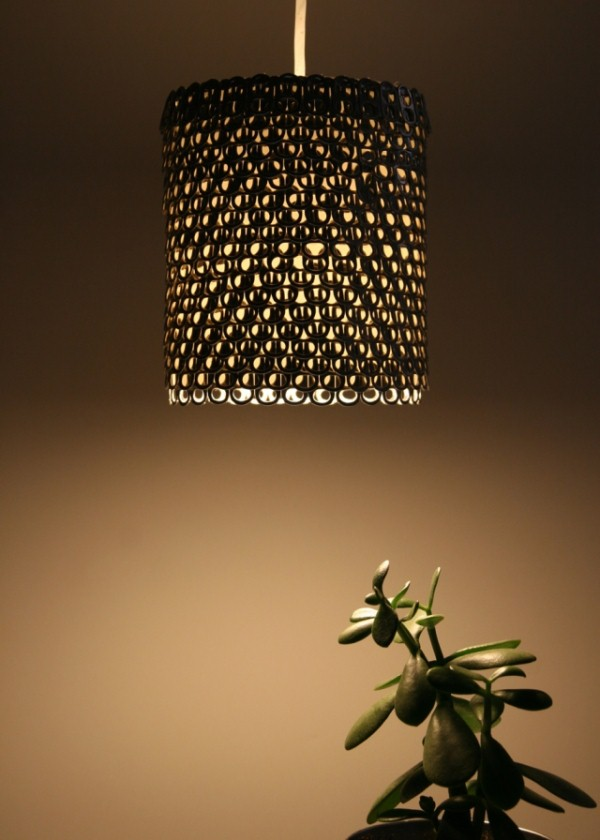 Upcycling Design Lampe
