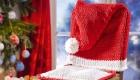 Weihnachtsmann-Stuhl stricken