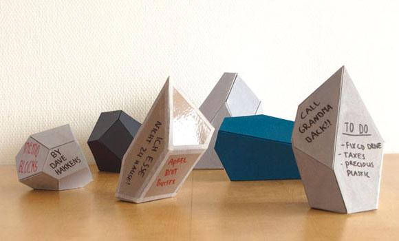Recyclte Erinnerungen: Der D.I.Y. Memo-Block