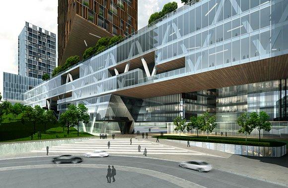 Utopia urbane zukunft die stadt wird gruen und urban - Baumhaus architekturburo ...