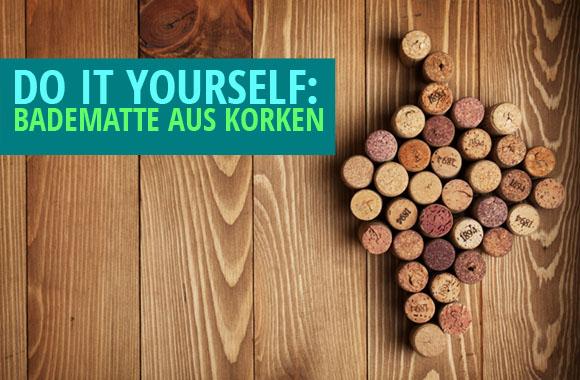Neue Upcycling-Badematte aus alten Korken: Rutschfest & saugfähig