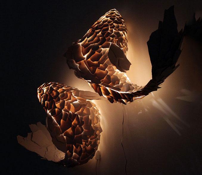 Im Dunklen kommen die feinen Lampen besonders zur Geltung © Frank Gehry