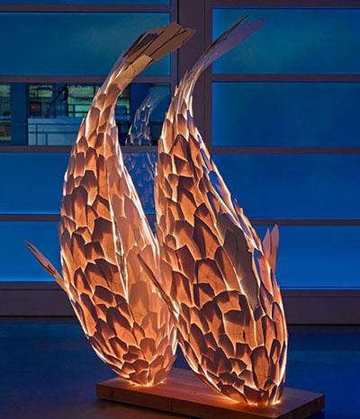 Schwerelose Fisch-Hängelampe