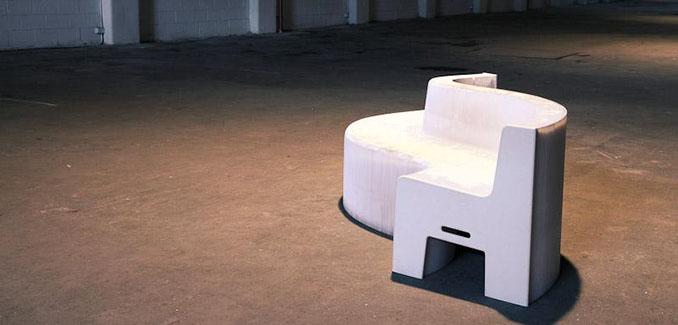 So schnell war noch kein Möbelstück. Im Bruchteil einer Sekunde verändert sich dieses Sofa komplett © Gerling Living