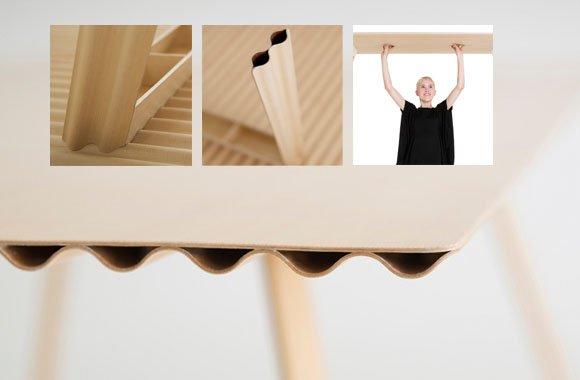 Leichtgewicht: Holztisch von Benjamin Hubert