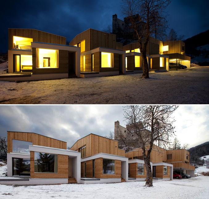 Auch nachts und im Winter beeindruckt das Gebäude