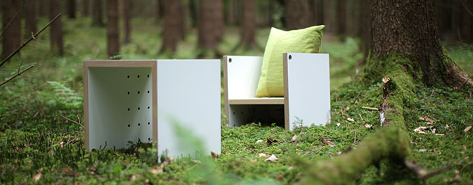 Qualitativ hochwertig und robust. Auseinandergebaut lassen sich viele Dinge mit dem Hochstuhl anstellen © Lena Peter Industrial Design