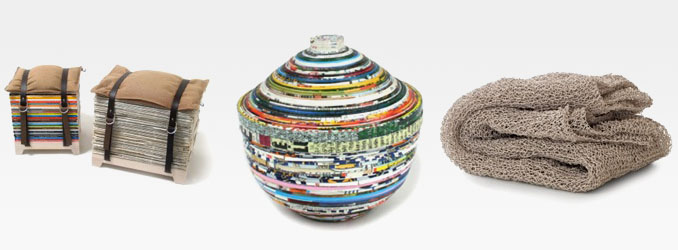 umweltfreundliche m bel und wohndesign aus recyceltem papier. Black Bedroom Furniture Sets. Home Design Ideas