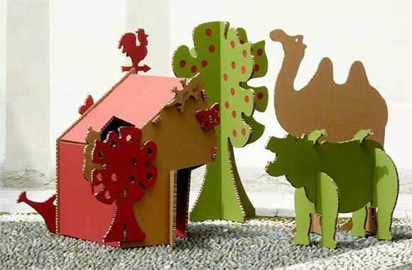 Stilvolle Pappmöbel aus Italien