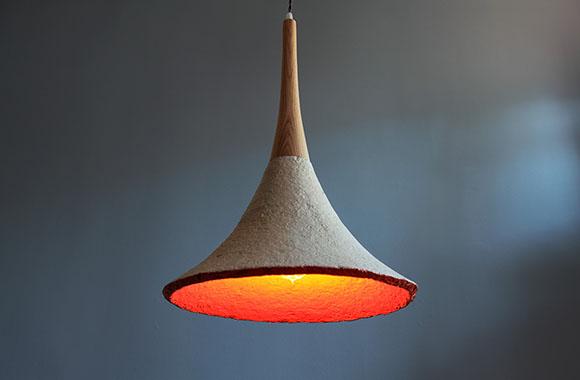 Designer Lampen Organische Leuchte aus Pilz-Myzel