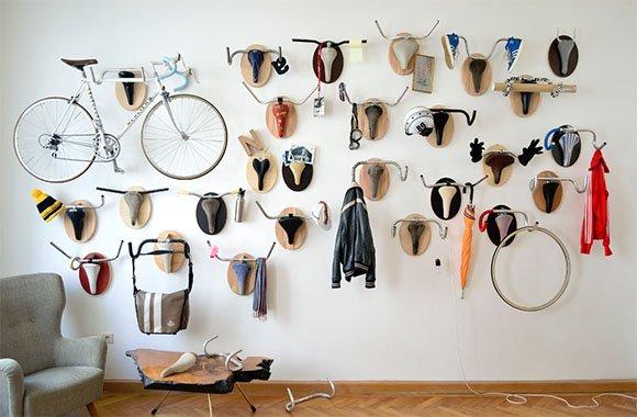 Upcycling Jagd-Trophäen aus alten Fahrradteilen