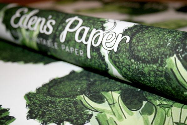 Feines Geschenkpapier: Komplett recycelbar in einem Topf mit Erde © BEAF