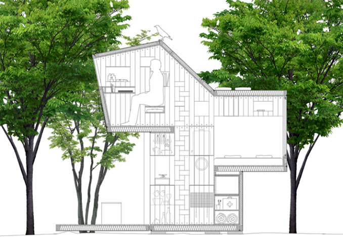Der Bauplan demonstriert das Leben im Mikrohaus © allergutendinge