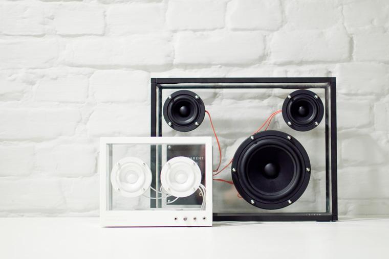 Nachhaltiger Lautsprecher: Small Transparent Speaker