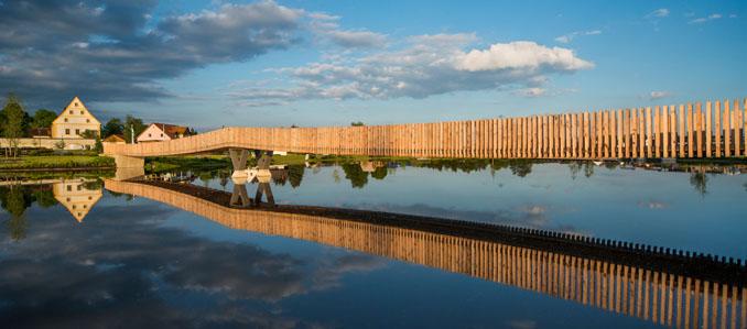 Diese Spannbandbrücke würde wahrscheinlich in jeder Landschaft ein wundervolles Panorama erzeugen ©Hanns Joosten, ANNABAU
