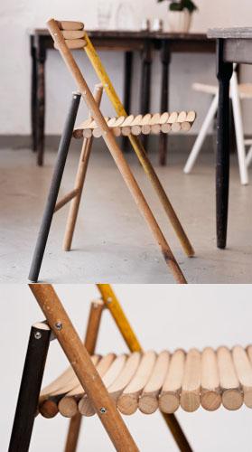 Jedes Teil ein Unikat - Die Stühle überzeugen mit Design und Stabilität