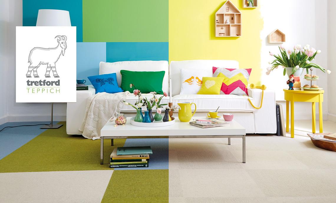 Gesund Wohnen und Arbeiten mit tretford Teppich