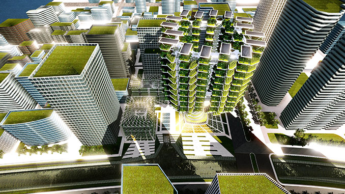 Die Bauweise sorgt für eine gute Akklimatisierung innerhalb des Gebäudes und ist mit Passivlüftern verwandt © Aprilli.com/Urban Skyfarm