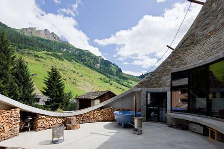 Villa Vals mit traumhaftem Panoramablick