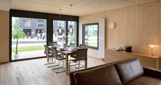 holzhaus woodcube im mehrfamilienhaus nachhaltig wohnen in. Black Bedroom Furniture Sets. Home Design Ideas