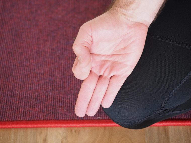 Meditieren auf tretford Teppich