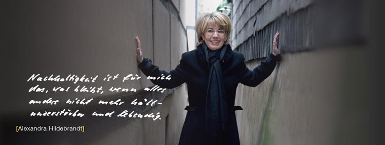 Dr. Alexandra Hildebrandt, Sachbuchautorin und Mitinitiatorin der Initiative Gesichter der Nachhaltigkeit