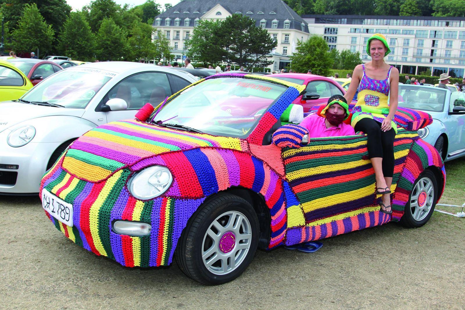 Der Beetle wurde schön umhäkelt ©Auto-Medienportal.net