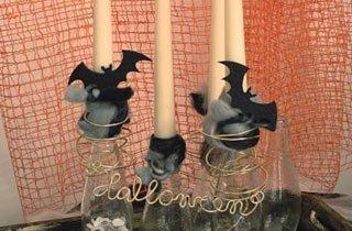 Gruselige Halloween-Kerzenständer selbst basteln