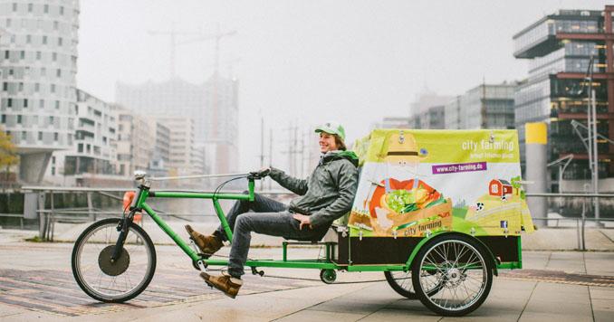 Lastenräder sind umweldfreundlich und vereinfachen den Transport © Cargo Cycle