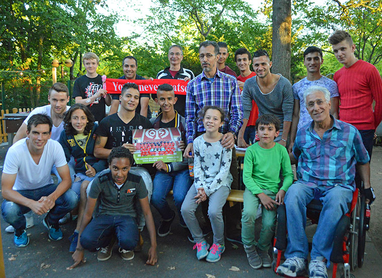 Fluechtlinge zu Gast bei Mainz 05