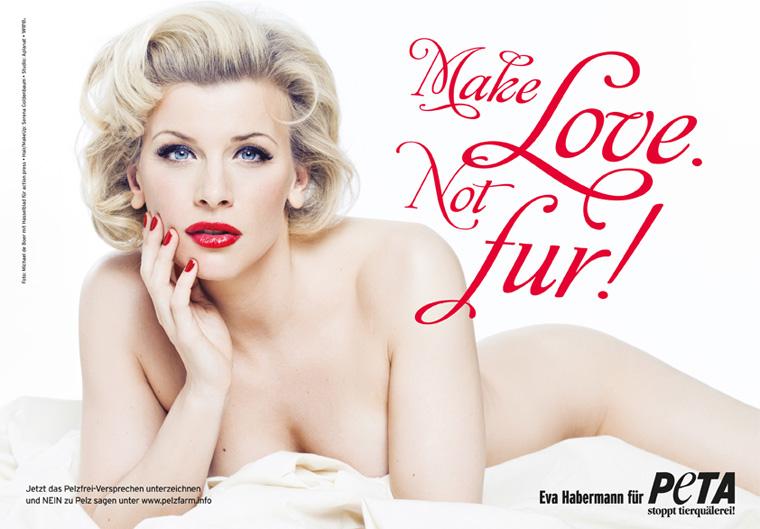 Peta make love no fur Eva Habermann