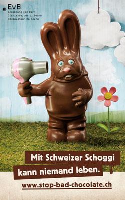 Schweizer Schokolade Osterhase Lindt
