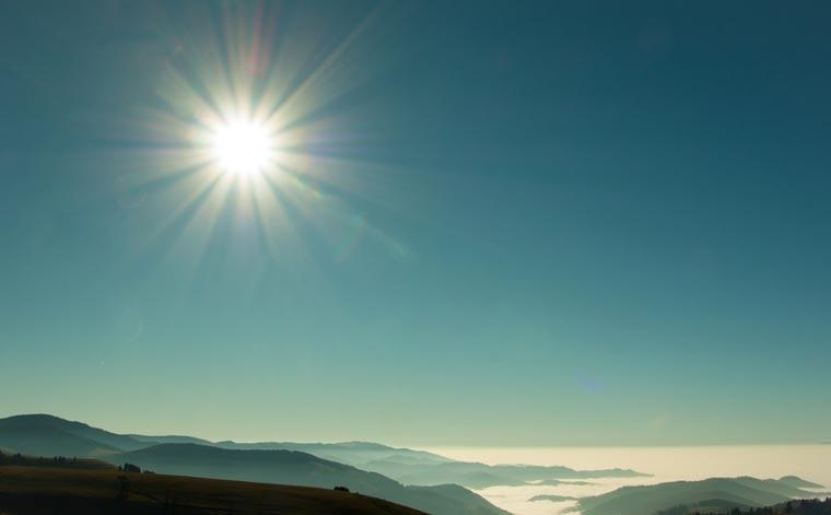 Die Sonne ? Ihre Kraft brauchen wir zum Leben.