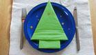 Serviettenbäumchen für die Festtafel