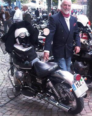 Ecowomans Geschäftsführer Thomas Werner am Gentlemans Ride