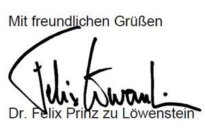 Unterschrift Löwenstein