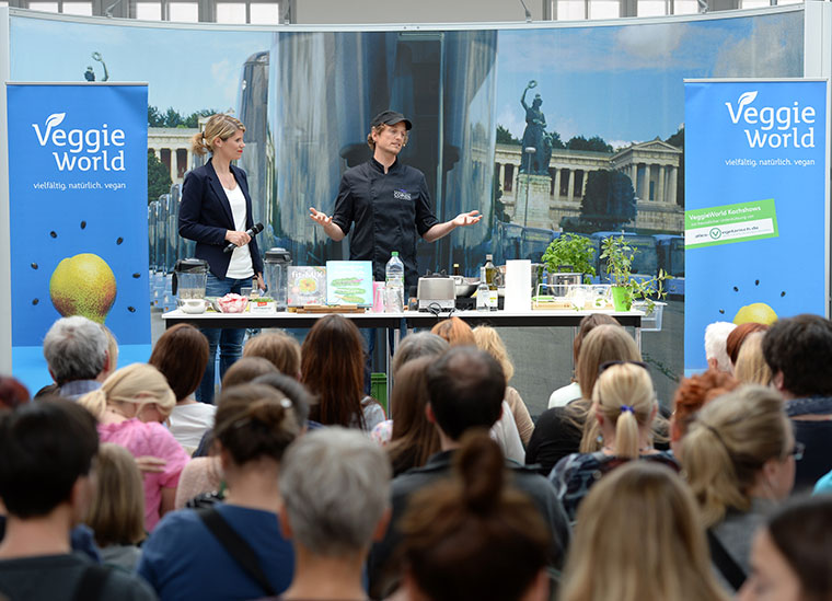 Vegane Messe VeggieWorld 2016 in Berlin.