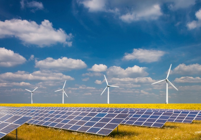 Ökostrom Windkraft Sonnenenergie