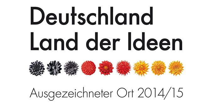 Mit diesem Siegel wurden die 100 besten Konzepte prämiert © Deutschland - Land der Ideen
